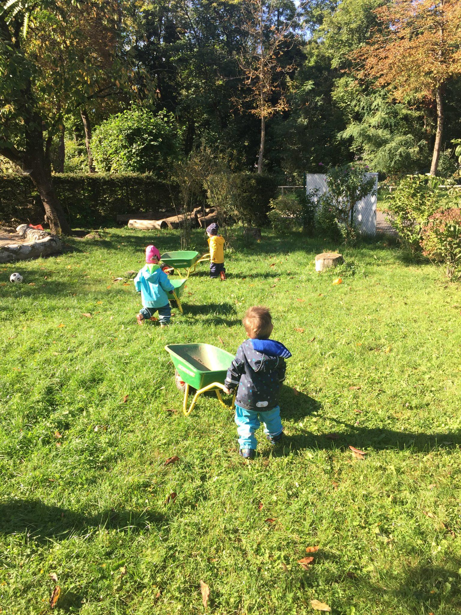 Herbstzeit in der Kleinkindgruppe