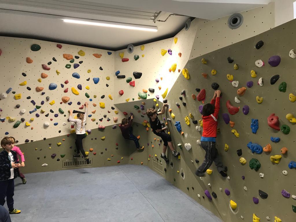 Sporttag in der Kletterhalle