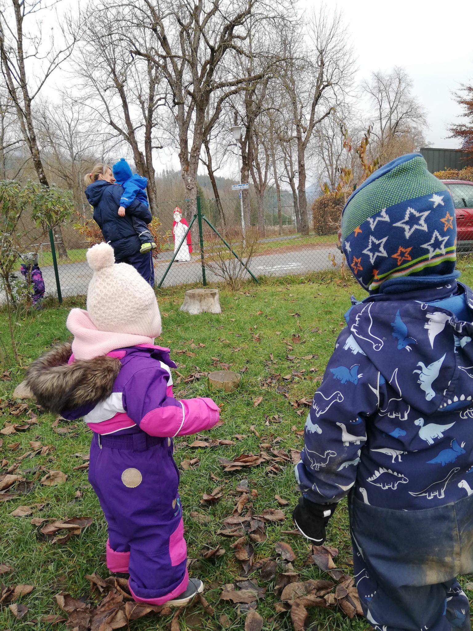 Besuch vom Nikolaus im Kindergarten